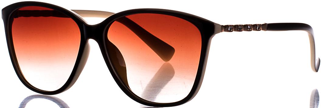 Очки солнцезащитные женские Vittorio Richi, цвет: коричневый, молочный. OC185141c3OC185141c3Женские солнцезащитные очки Vittorio Richi с поляризацией выполнены из качественного материала. Линзы очков не пропускают вредоносные солнечные лучи, повышают контрастность цветовосприятия, не искажают изображение. Защита 400 UV. Общая ширина оправы: 14,5 см. Длина дужки: 14 см. Ширина линзы: 5,7 см. Высота линзы: 4,6 см. Ширина носика: 1,6 см.