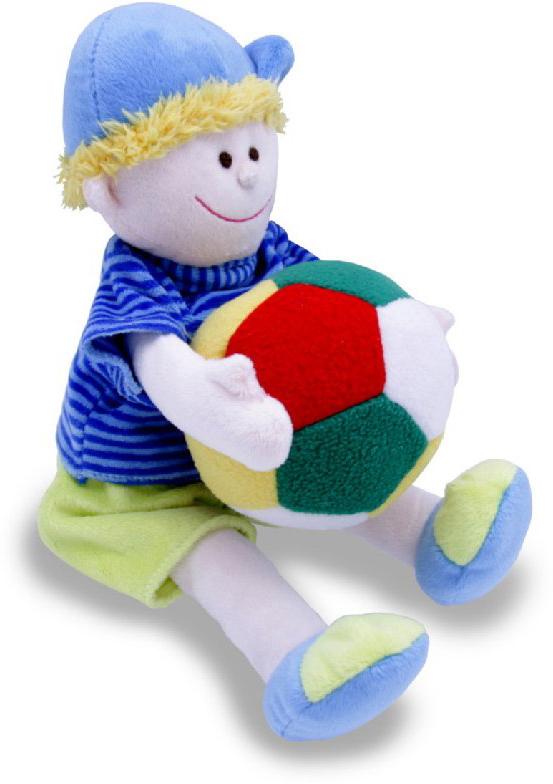Magic Bear Toys Мягкая игрушка Мальчик с мячом 22 см
