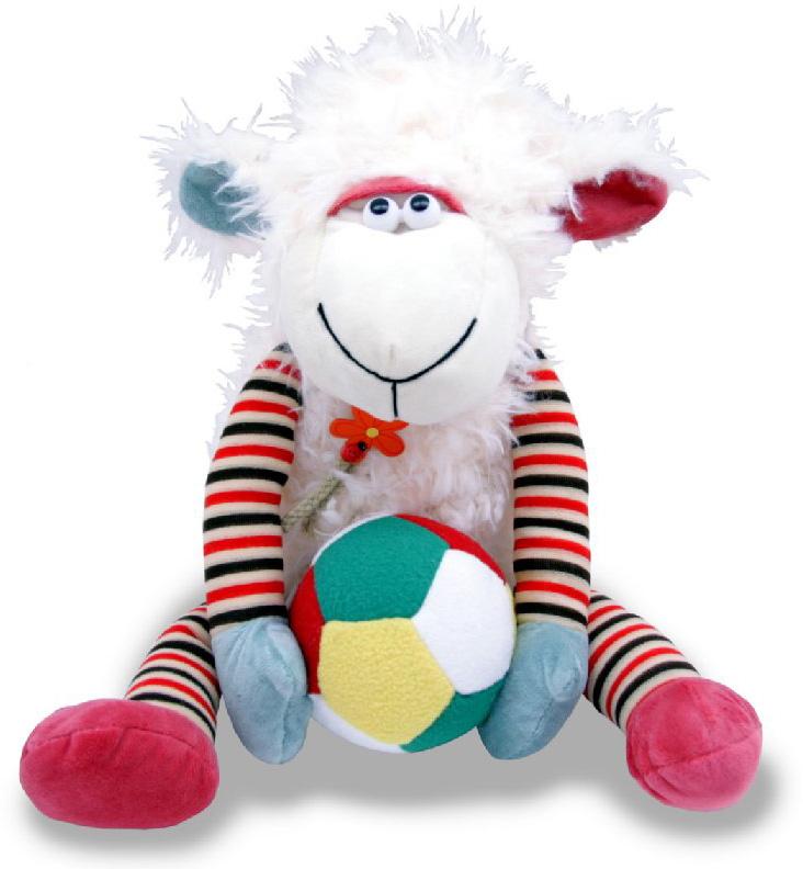 Фото - Magic Bear Toys Мягкая игрушка Овечка с мячом 30 см magic bear toys мягкая игрушка овечка цвет фиолетовый 42 см