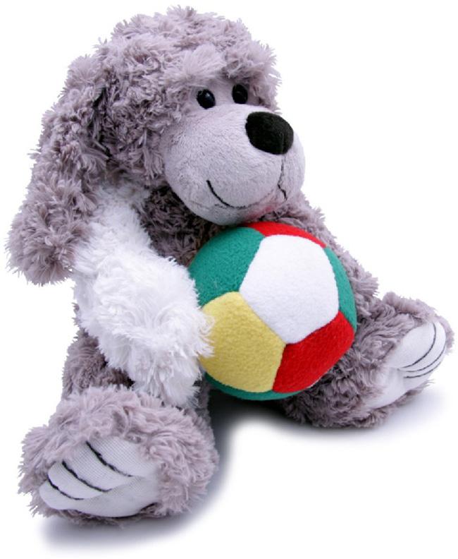 Magic Bear Toys Мягкая игрушка Собака Шэлдон с мячом 23 см
