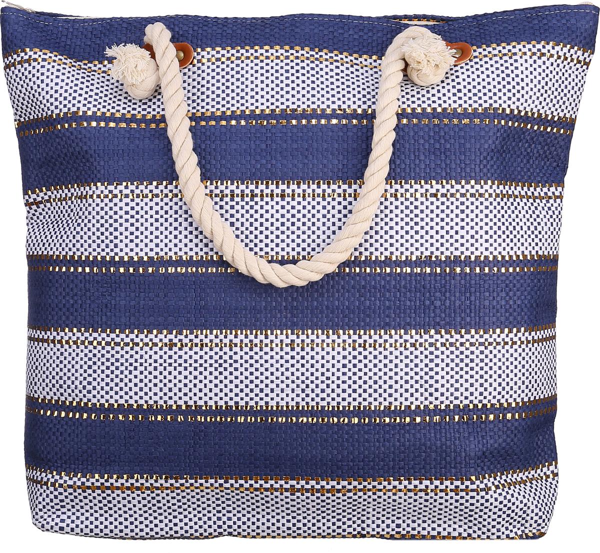 цена на Сумка пляжная Модные истории, цвет: синий. 3/0255/180