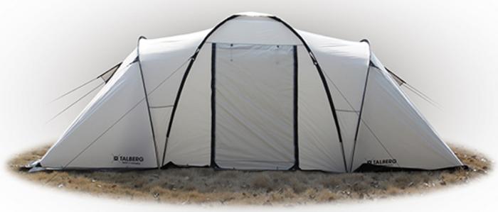 Палатка Talberg Base 4 S, цвет: серый тент туристический talberg цвет зеленый 4 м х 4 м