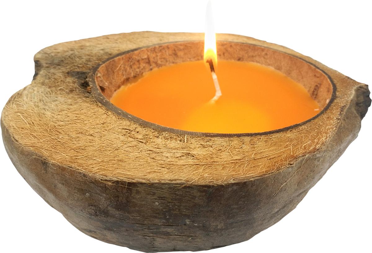 Свеча ароматизированная Gift'n'Home Coco-Персик, защита от комаров, цвет: желтый, высота 7 см свеча уличная help от комаров на трости цвет розовый 70 см