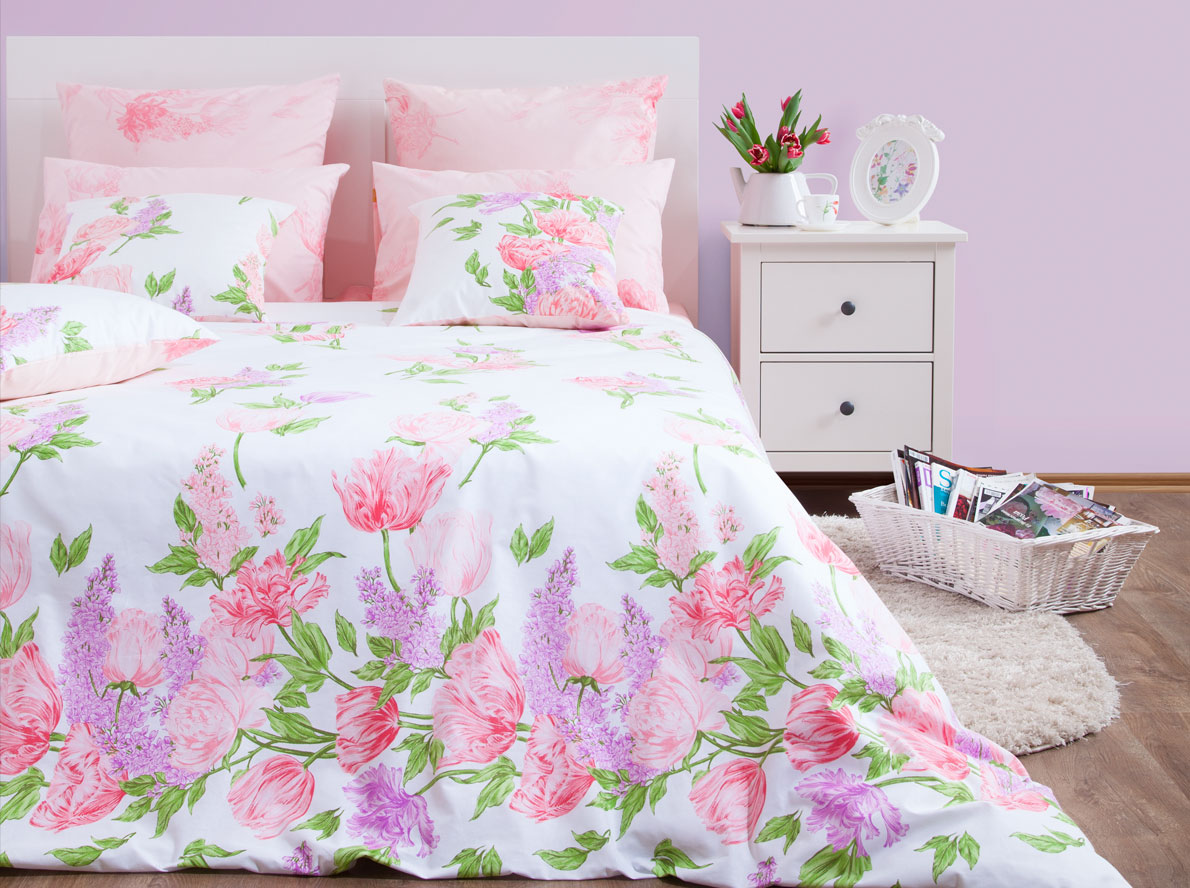 Комплект постельного белья Хлопковый Край Линда, 1,5 спальный, наволочки 50x70 комплект постельного белья хлопковый край египет 5485 1