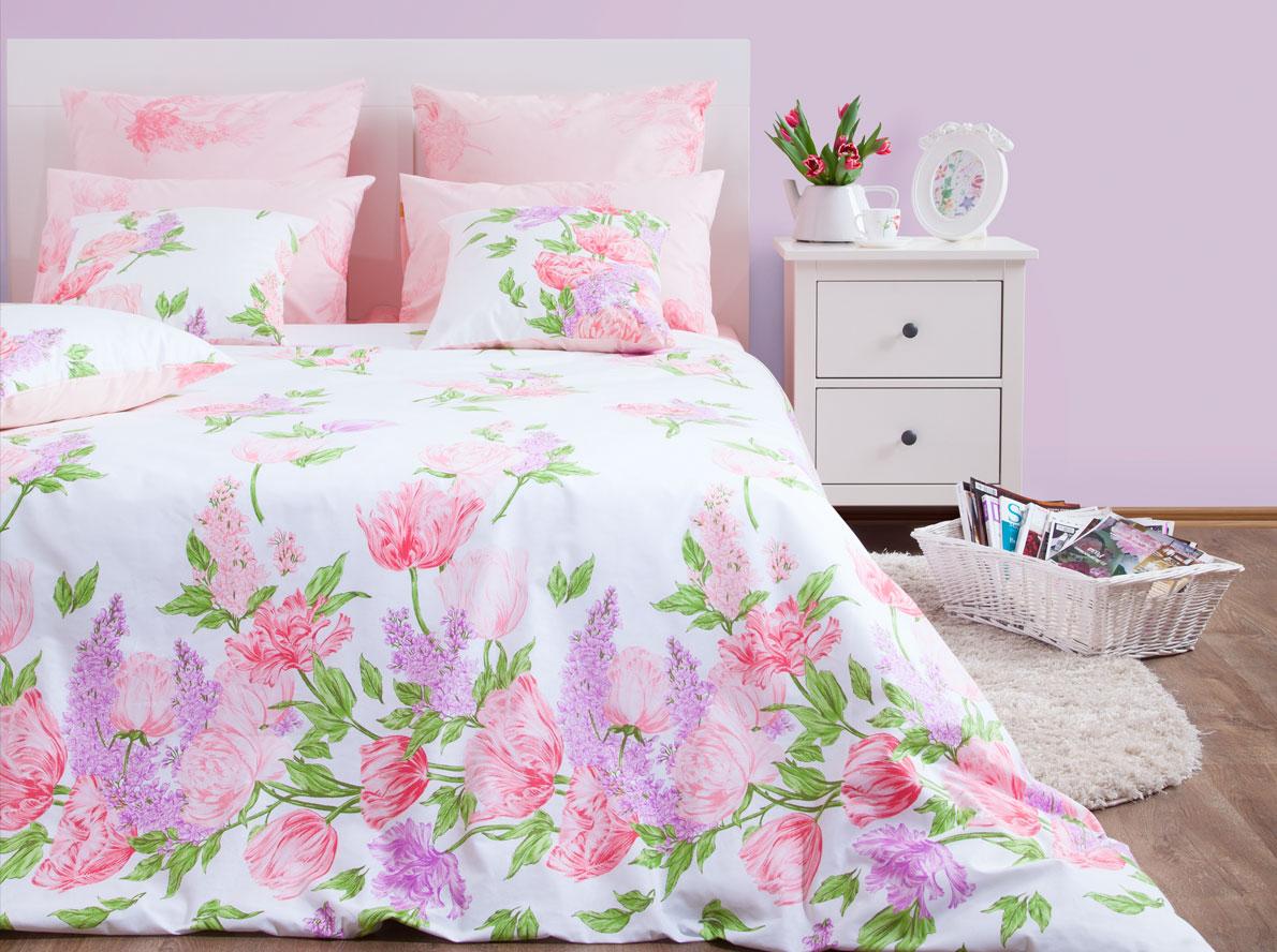 Комплект постельного белья Хлопковый Край Линда, 2-спальный, наволочки 50x70 комплект постельного белья хлопковый край египет 5485 1