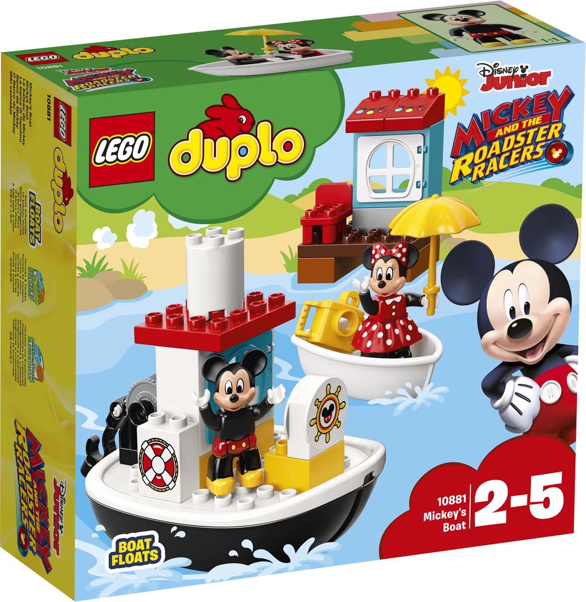LEGO DUPLO Disney 10881 Катер Микки Конструктор disney блокнот микки маус ты лучше всех 60 листов