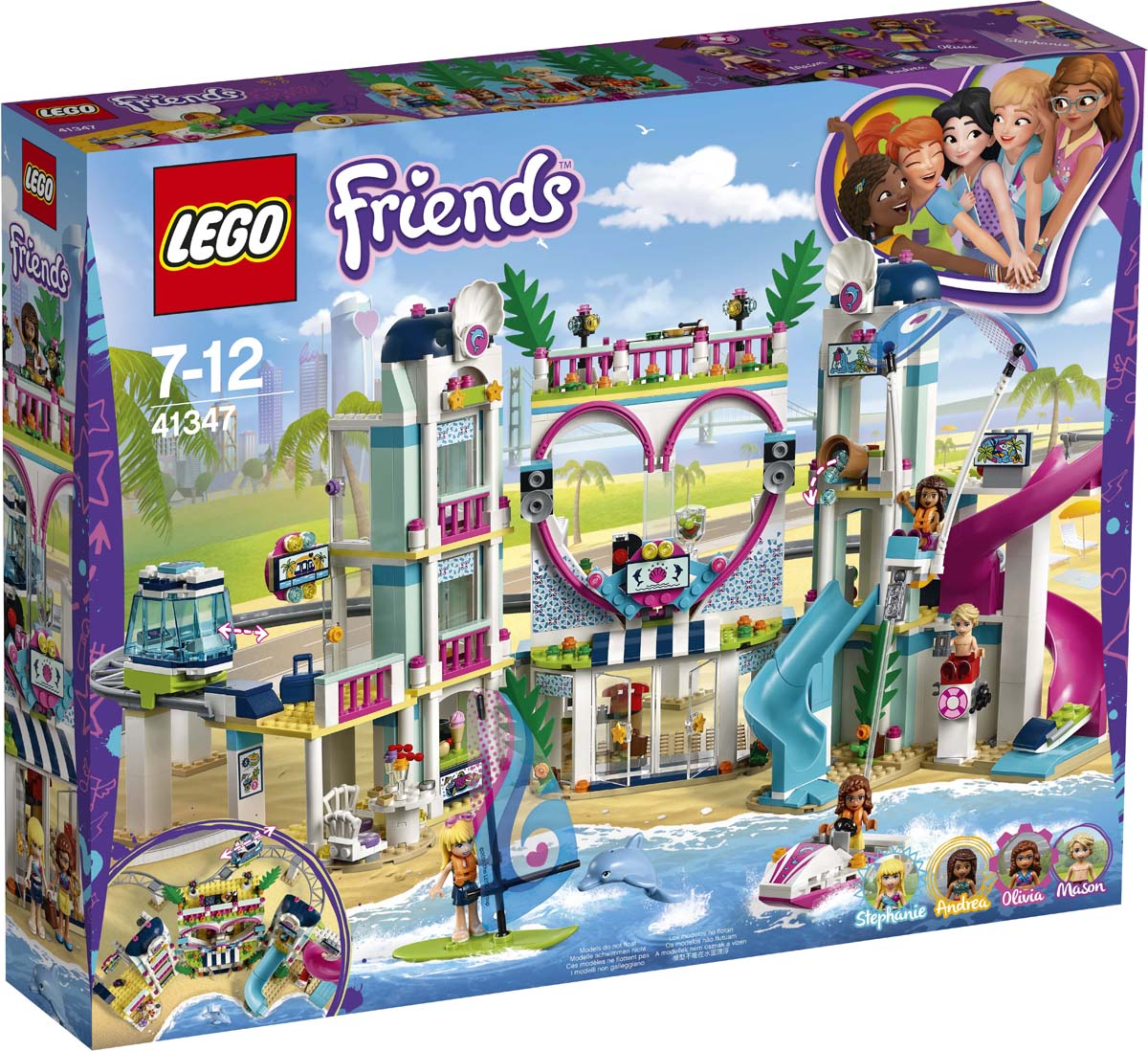 LEGO Friends 41347 Курорт Хартлейк-Сити Конструктор цена