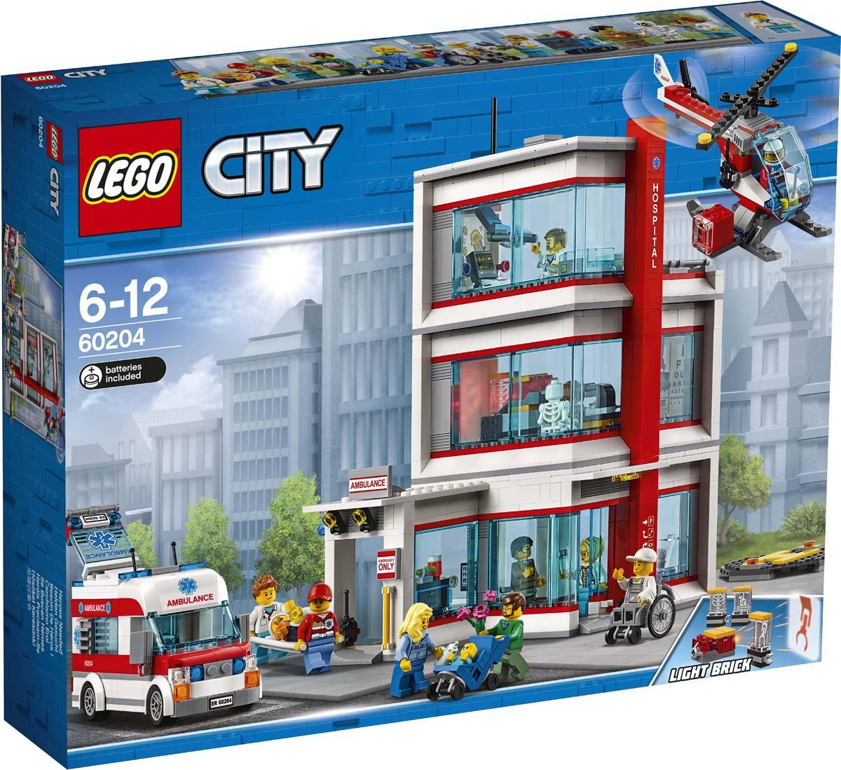 цена на LEGO City Town 60204 Городская больница Конструктор