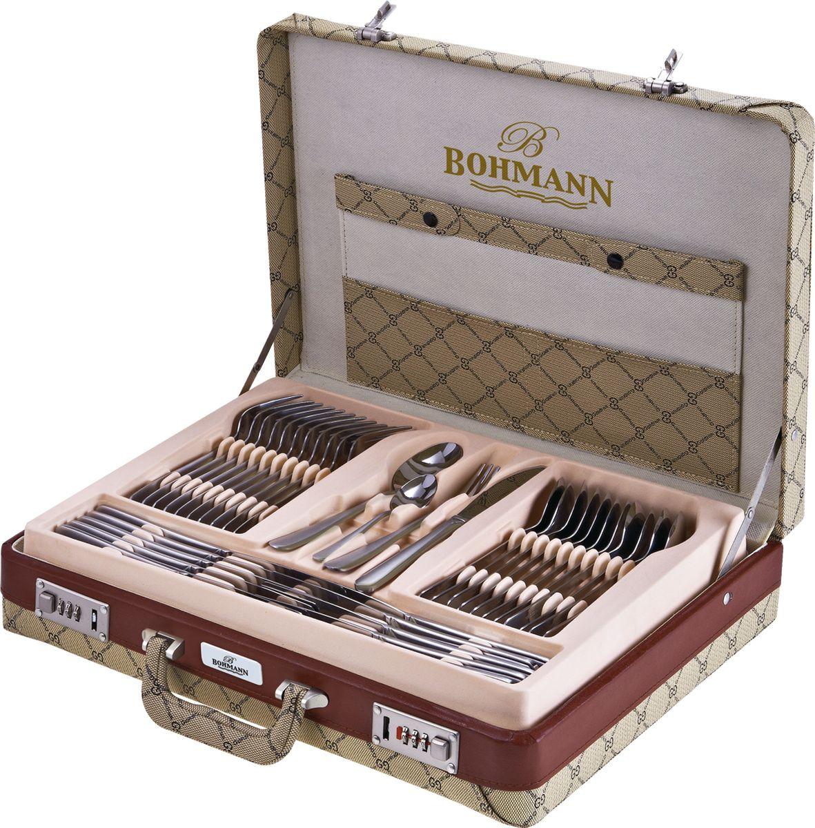 Набор столовых приборов BOHMANN 5946GDВН, серебристый