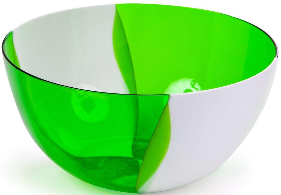 """Салатник двухцветный Беросси """"Dolce"""", цвет: зеленый, 1 л"""