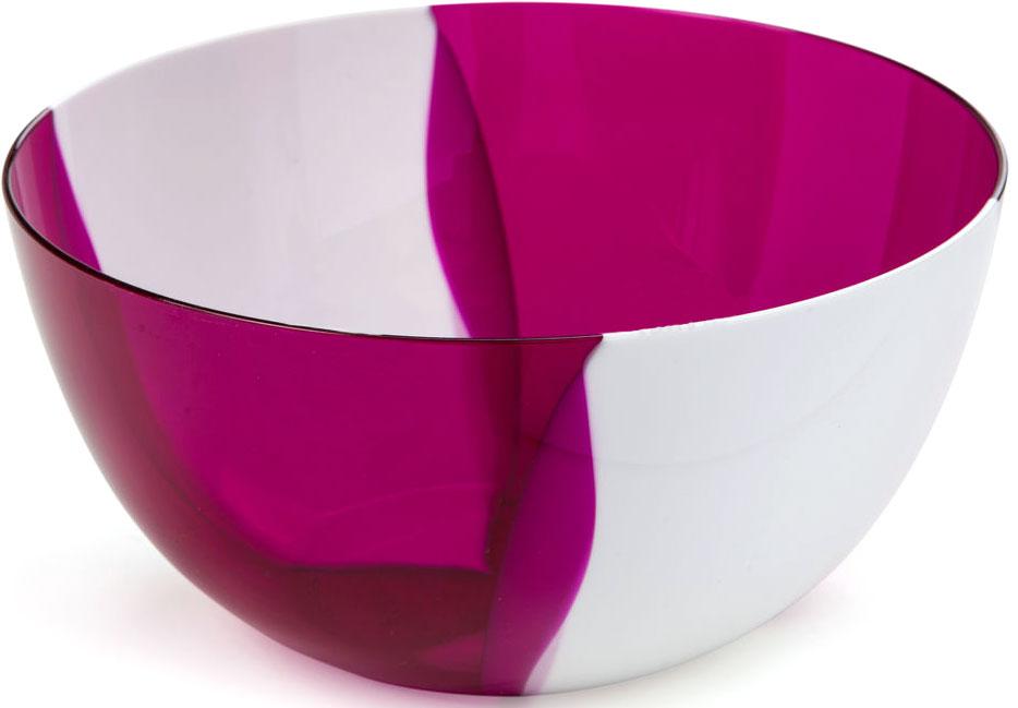 Салатник двухцветный Беросси Dolce, цвет: вишневый, 1 лИК 19153000Салатник Беросси выполнен из первоклассного пластика. Посуда подходит к любому интерьеру. Можно мыть в посудомоечной машине. Подходит для любых событий и торжеств.Не использовать на открытом огне.