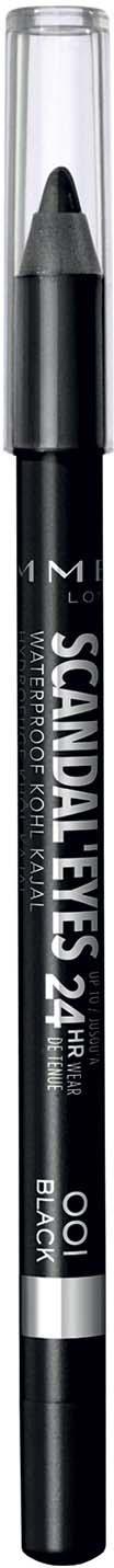 Карандаш для глаз Rimmel Scandal`eyes Waterproof Kohl Kajal, тон 001, 6 г подводка маркер для глаз rimmel scandaleyes micro eyeliner тон 001 1 1 мл