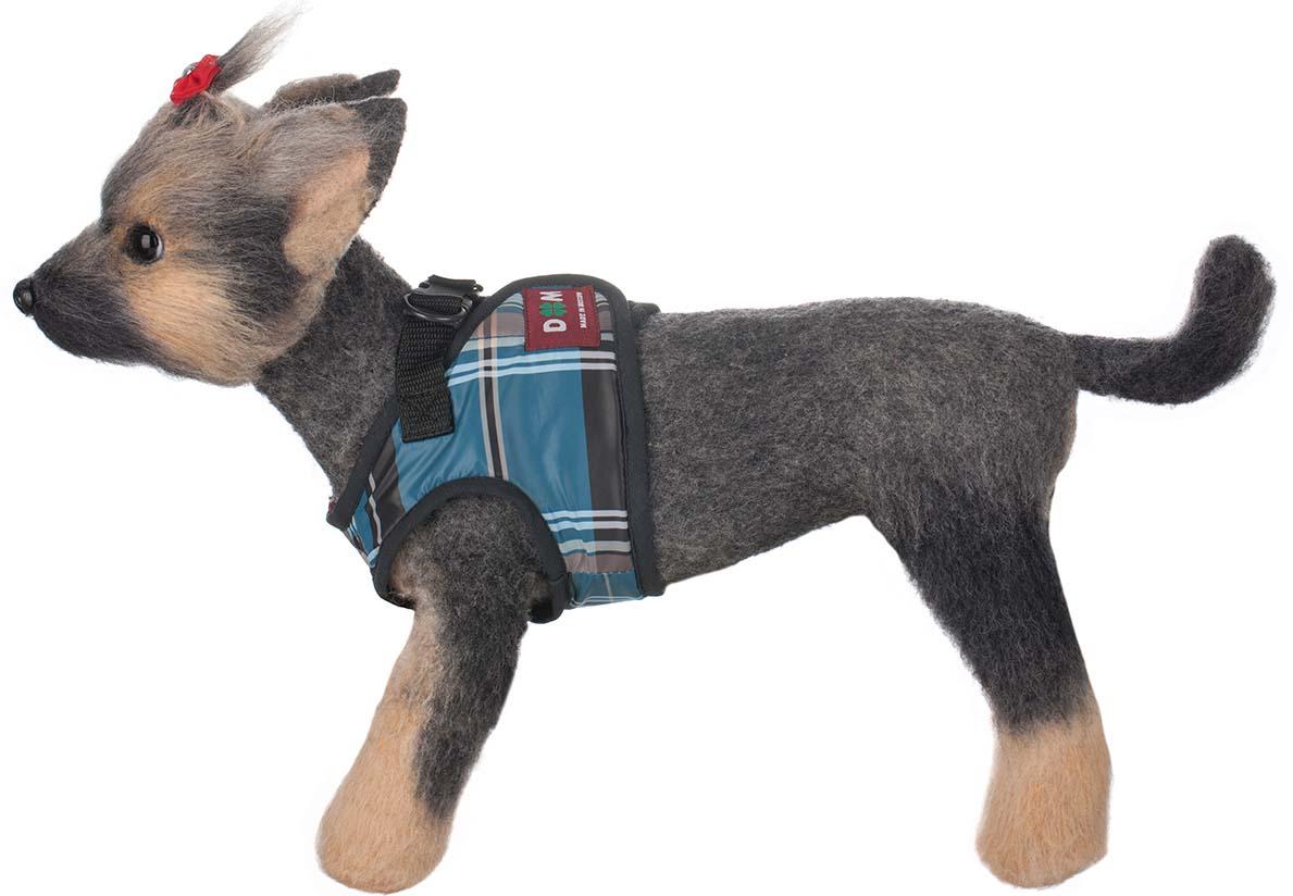 """Шлейка-жилет для собак """"Doggs"""", цвет: синий. Размер 3 (L)"""