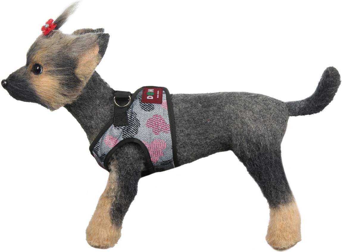 """Шлейка-жилет для собак """"Мегаполис"""", цвет: розовый. Размер 3 (L)"""