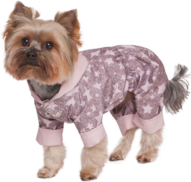 Дождевик для собак Dogmoda двухсторонний унисекс цвет  пудра  Размер L