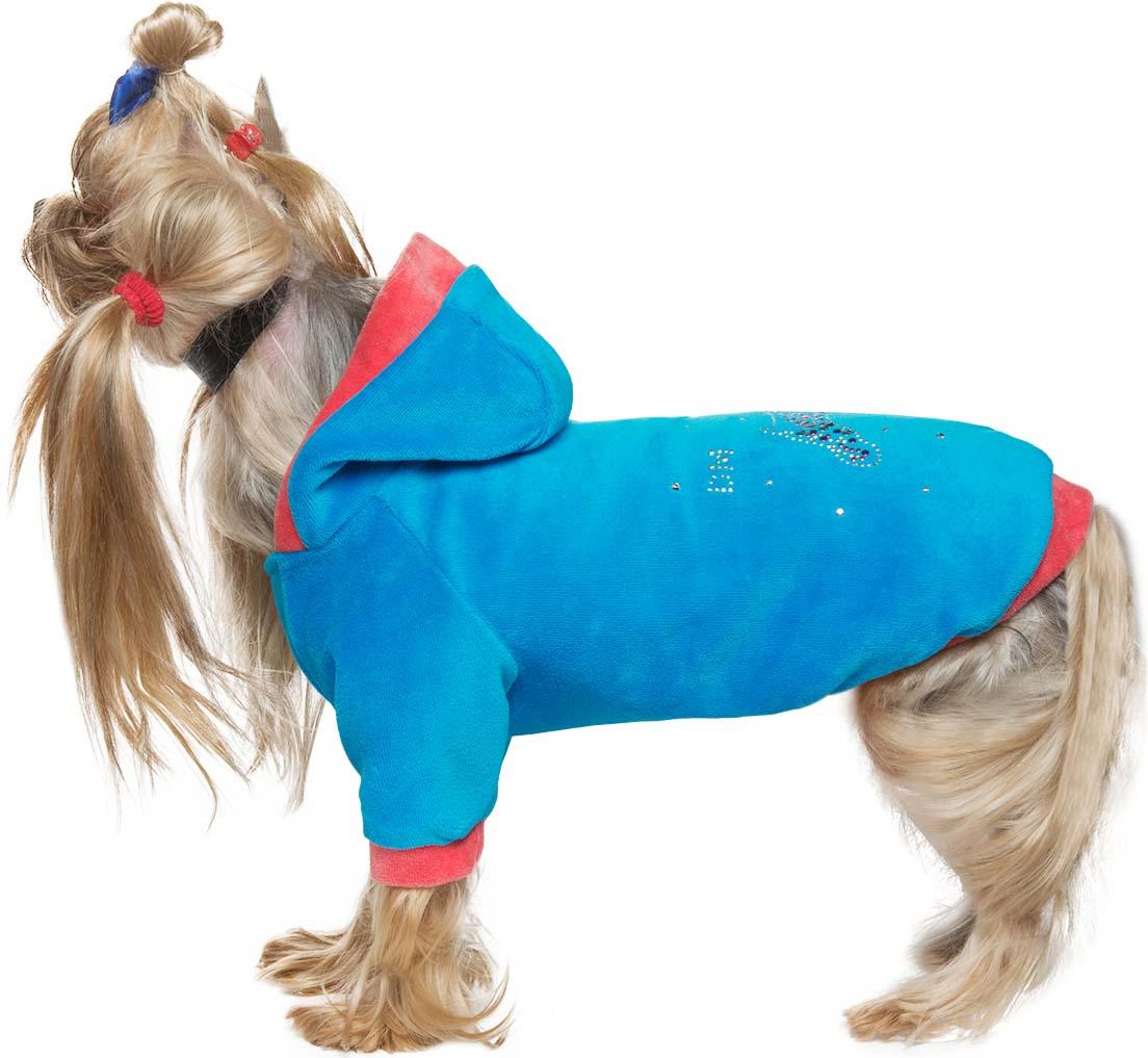 """Куртка велюровая для собак Dogmoda """"Dog"""", унисекс. Размер M"""