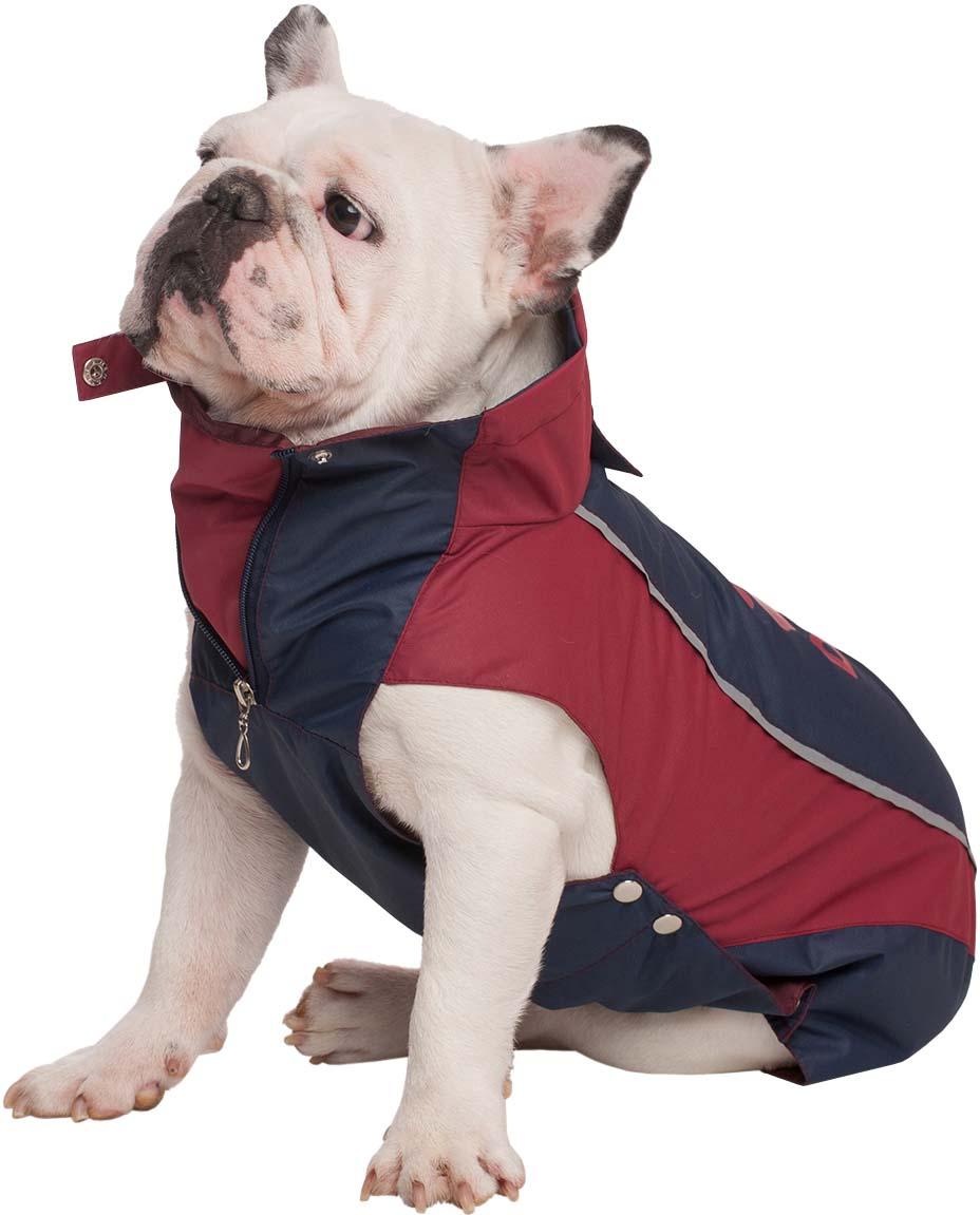 """Попона для собак Dogmoda """"Doggs. Лайт"""", унисекс, цвет: бордовый. Размер S"""