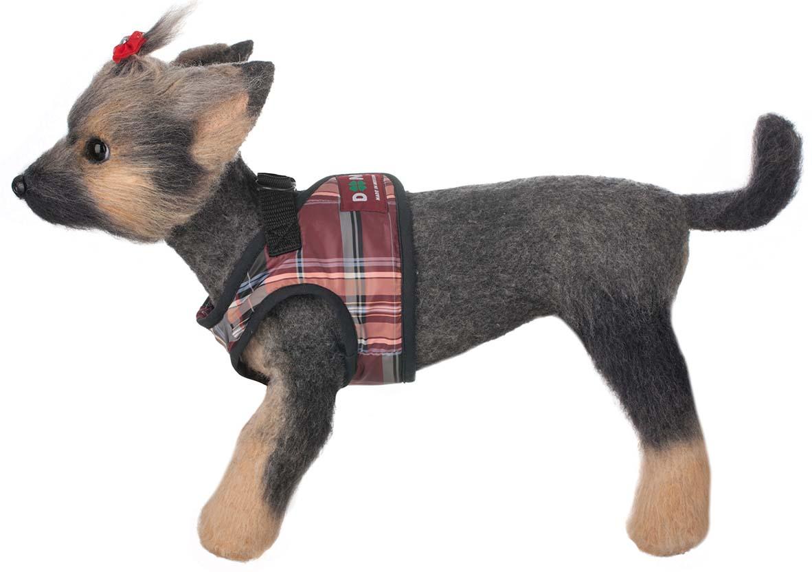 Шлейка-жилет для собак Doggs, цвет: бордовый. Размер 3 (L) шлейка для собак dogmoda клетка и поводок dm 190103 3 размер 3 l