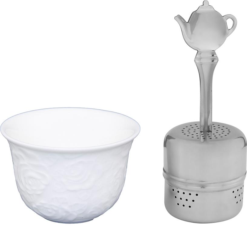 Набор для заварки чая Elan Gallery Белые розы, 75 мл, 2 предмета. 860028 набор фарфоровой посуды king wo 56