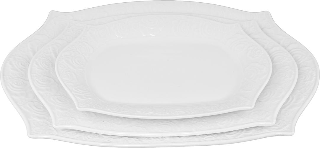 """Набор блюд Elan Gallery """"Белые розы"""", 3 шт. 860030"""