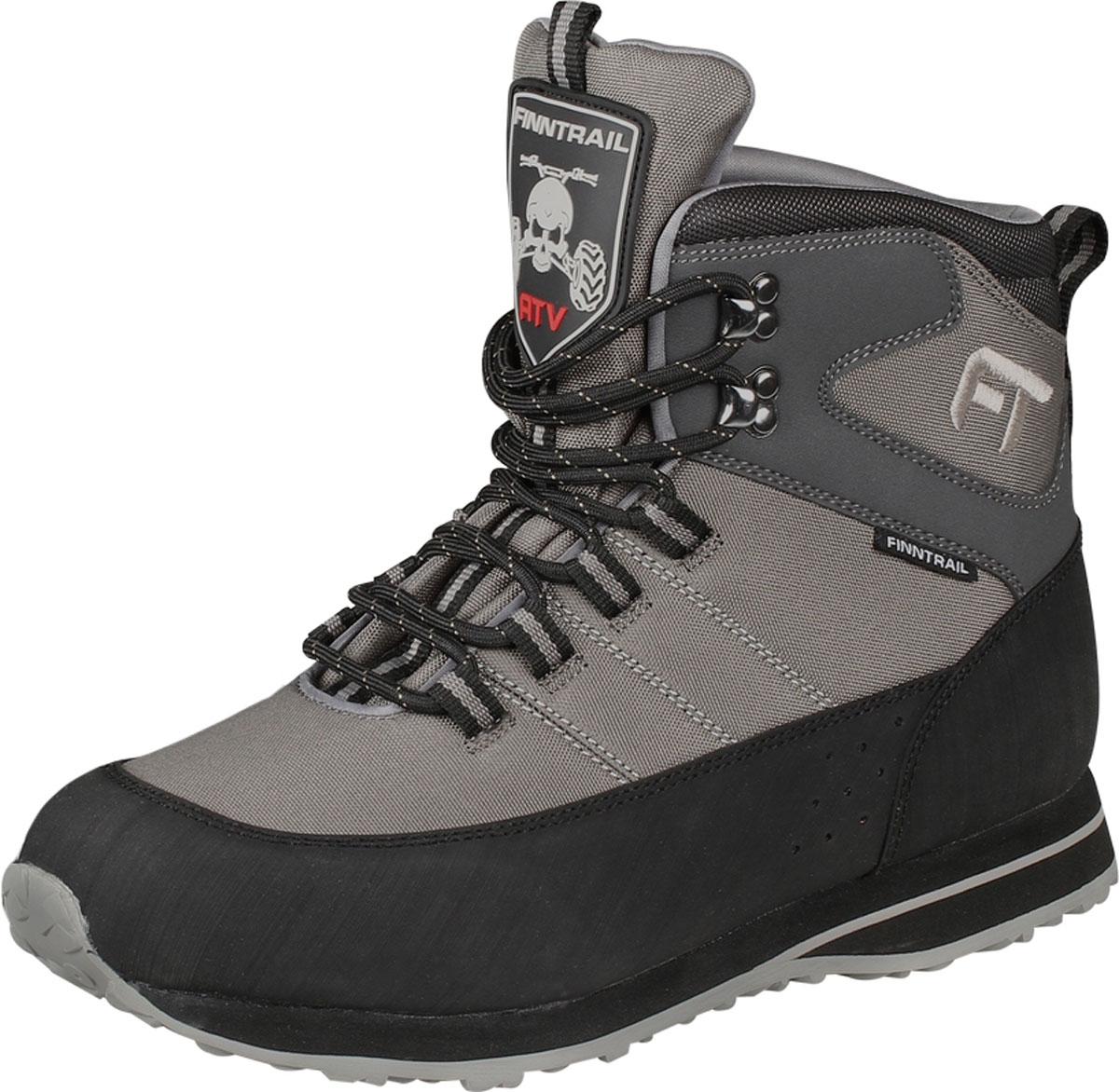 Ботинки для рыбалки Finntrail New Stalker, цвет: серый, черный. 5192. Размер 45