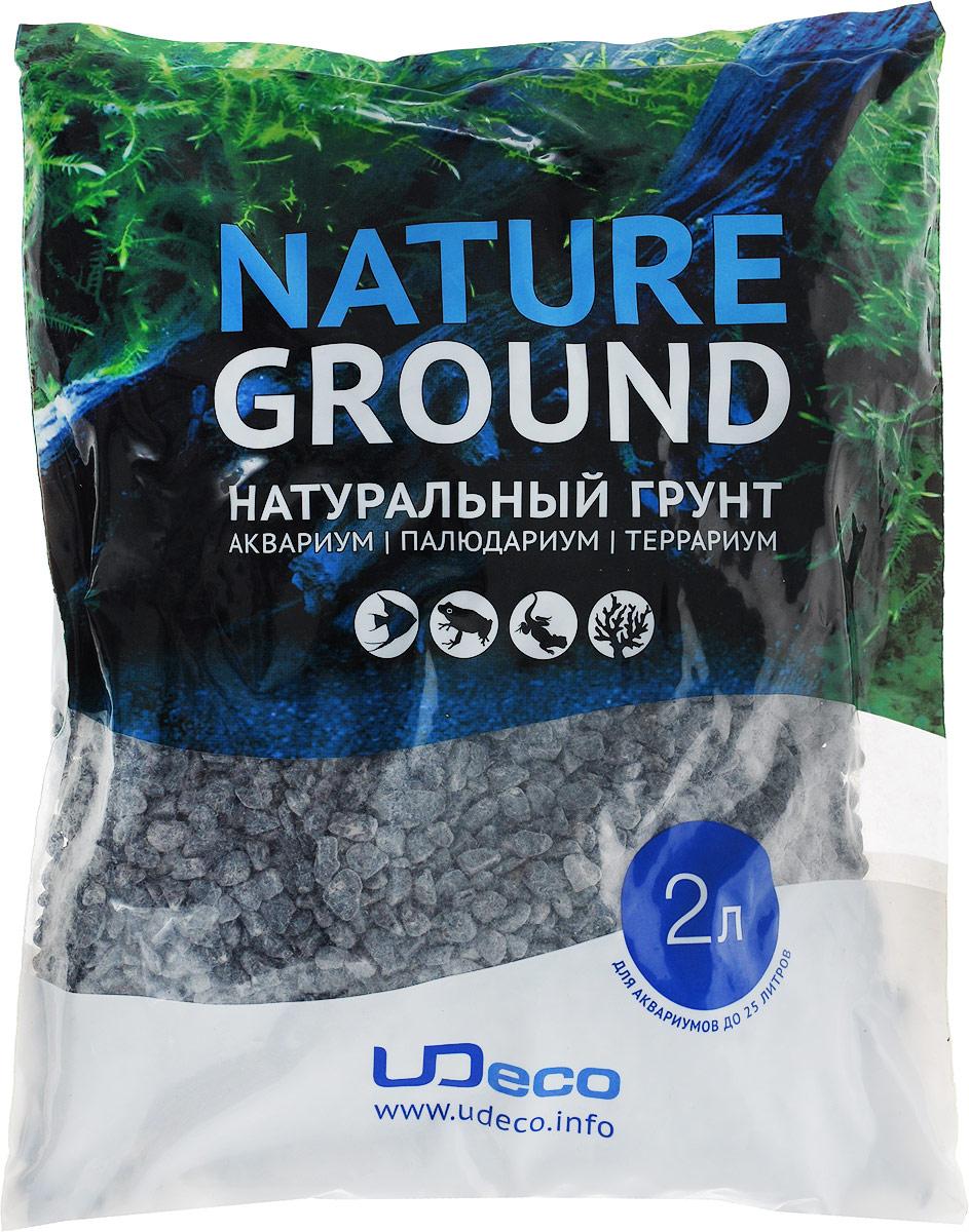 """Грунт для аквариумов UDeco """"Черный гравий"""", 6-12 мм, 2 л"""