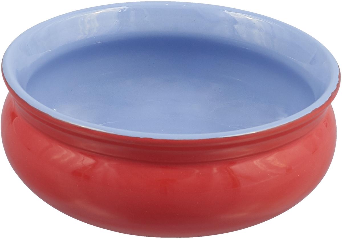 Тарелка глубокая Борисовская керамика Скифская, цвет: красный, голубой, 500 мл тарелка глубокая борисовская керамика скифская цвет салатовый желтый 500 мл