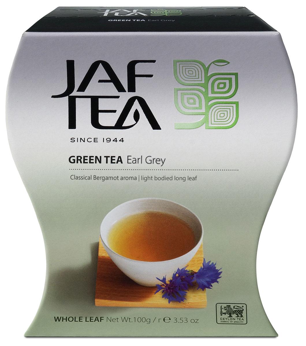 Jaf Tea Green Earl Grey чай зеленый листовой с ароматом бергамота, 100 г jaf tea earl grey classic чай черный листовой с ароматом бергамота 100 г