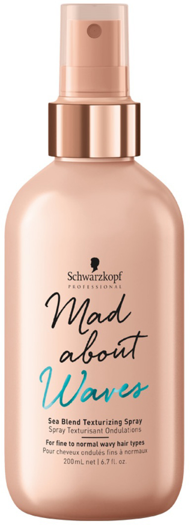 Schwarzkopf Professional Спрей текстурирующий для тонких и нормальных волос Mad About Waves, 200 мл schwarzkopf professional термозащитный спрей для волос flatliner 200 мл