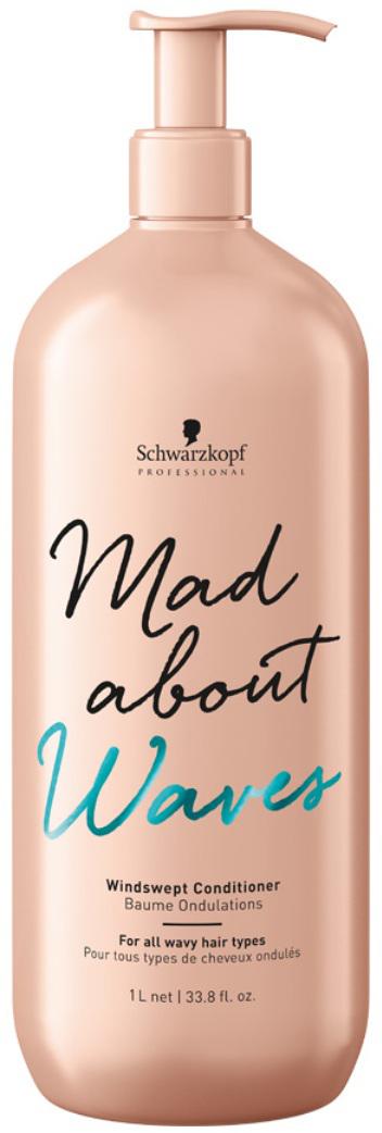 Schwarzkopf Professional Кондиционер для нормальных и жестких волос Mad About Waves, 1000 мл schwarzkopf professional кондиционер для всех типов волнистых волос mad about waves windswept сonditioner 250 мл