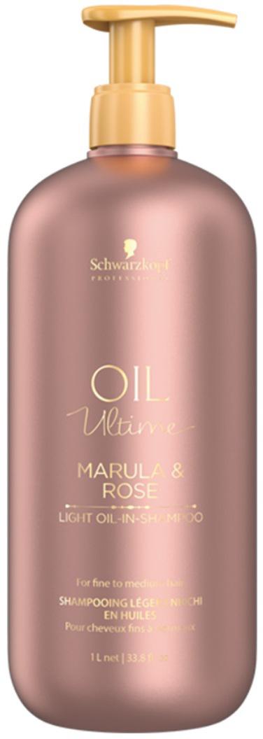 Schwarzkopf Professional Шампунь для тонких и нормальных волос Oil Ultime, 1000 мл schwarzkopf professional бонакур блеск шампунь с розовым маслом для кожи головы и волос 200 мл