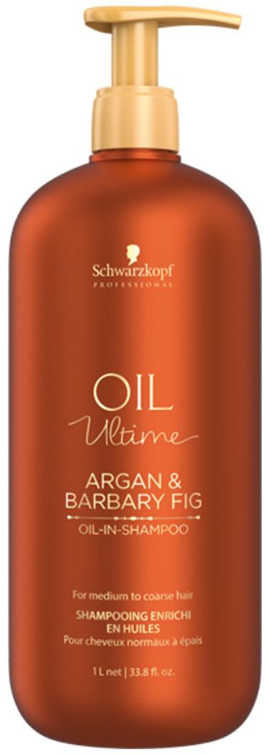 Schwarzkopf Professional Шампунь для жестких и средних волос Oil Ultime, 1000 мл schwarzkopf professional бонакур блеск шампунь с розовым маслом для кожи головы и волос 200 мл