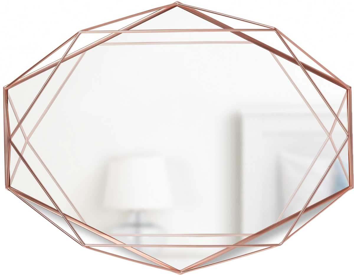 Фото - Зеркало настенное Umbra Prisma, цвет: медь [супермаркет] jingdong геб scybe фил приблизительно круглая чашка установлена в вертикальном положении стеклянной чашки 290мла 6 z