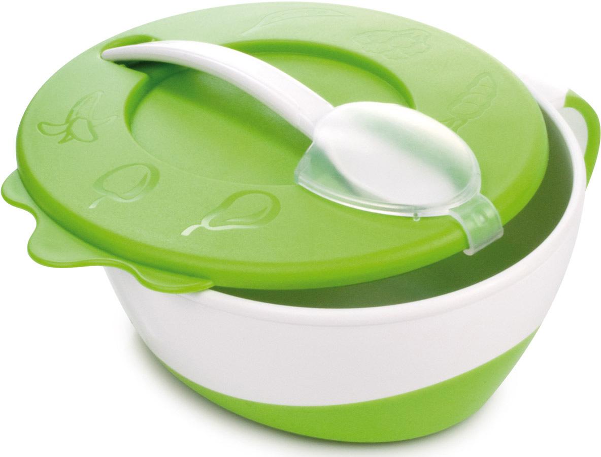 Canpol Babies Набор посуды для кормления цвет белый зеленый 3 предмета для кормления ребенка на улице
