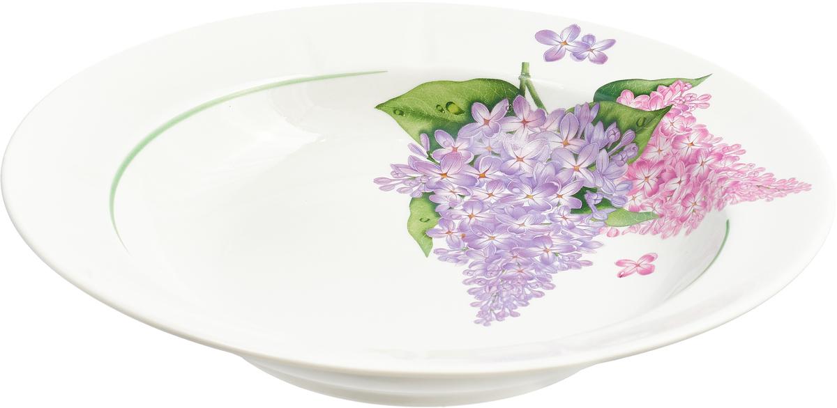 Тарелка суповая Сирень, 22 см тарелка суповая 22 см eschenbach тарелка суповая 22 см