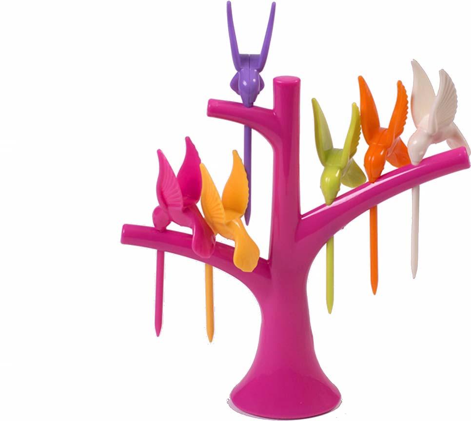 Набор шпажек для канапе Magic Home Колибри, с подставкой, 7 предметов набор для канапе antella шпаги 24 шт