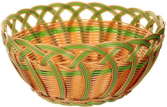 Корзинка плетеная Oriental Way Мульти, круглая. Диаметр 24 см корзинка для хранения garden rattan