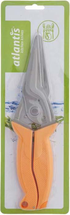 Ножницы кухонные Atlantis, универсальные, цвет: оранжевый. 18LF-1001-O ножницы кухонные atlantis универсальные цвет синий 18lf 1001 b