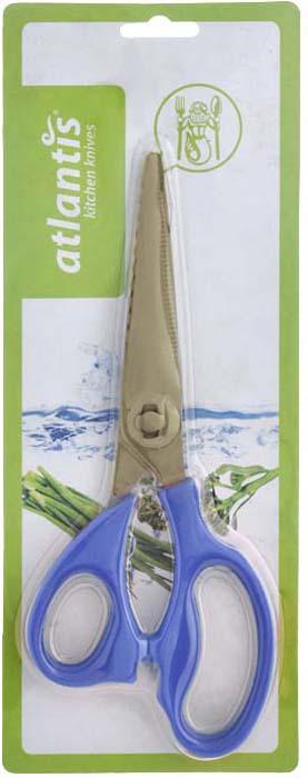 Ножницы кухонные Atlantis, разборные, цвет: синий. 18LF-1002-B ножницы кухонные atlantis универсальные цвет синий 18lf 1001 b