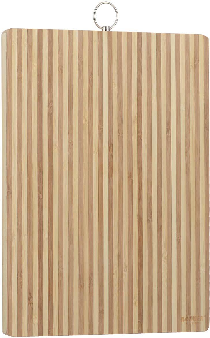 Доска разделочная Bekker, бамбуковая, 34 см х 24 см. BK-9705 доска разделочная bekker 30 х 20 х 2 см