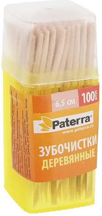 Зубочистки Paterra, деревянные, 6,5 см, 100 шт цвет: в ассортименте кроватка гандылян габриэлла люкс колесо качалка махагон