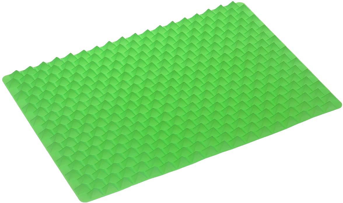 Силиконовый коврик для приготовления пищи Bradex, цвет: зеленый, 40 см х 27 см цена