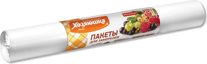 Пакеты для замораживания и хранения Хозяюшка Мила, 6 л, 20 шт цена