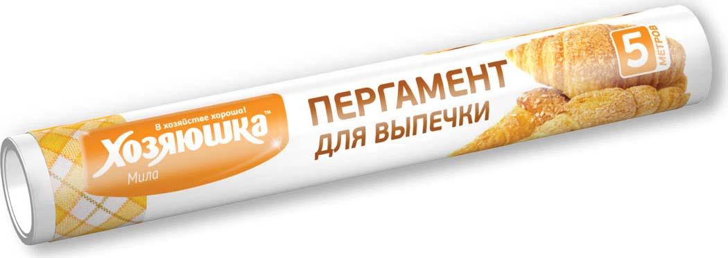 Пергамент для выпечки Хозяюшка Мила, пищевой, 5 м хозяюшка мила насадка для швабры флеттер м 07