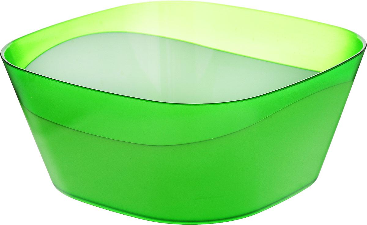 """Салатник двухцветный Беросси """"Valery"""", цвет: зеленый, 1 л"""