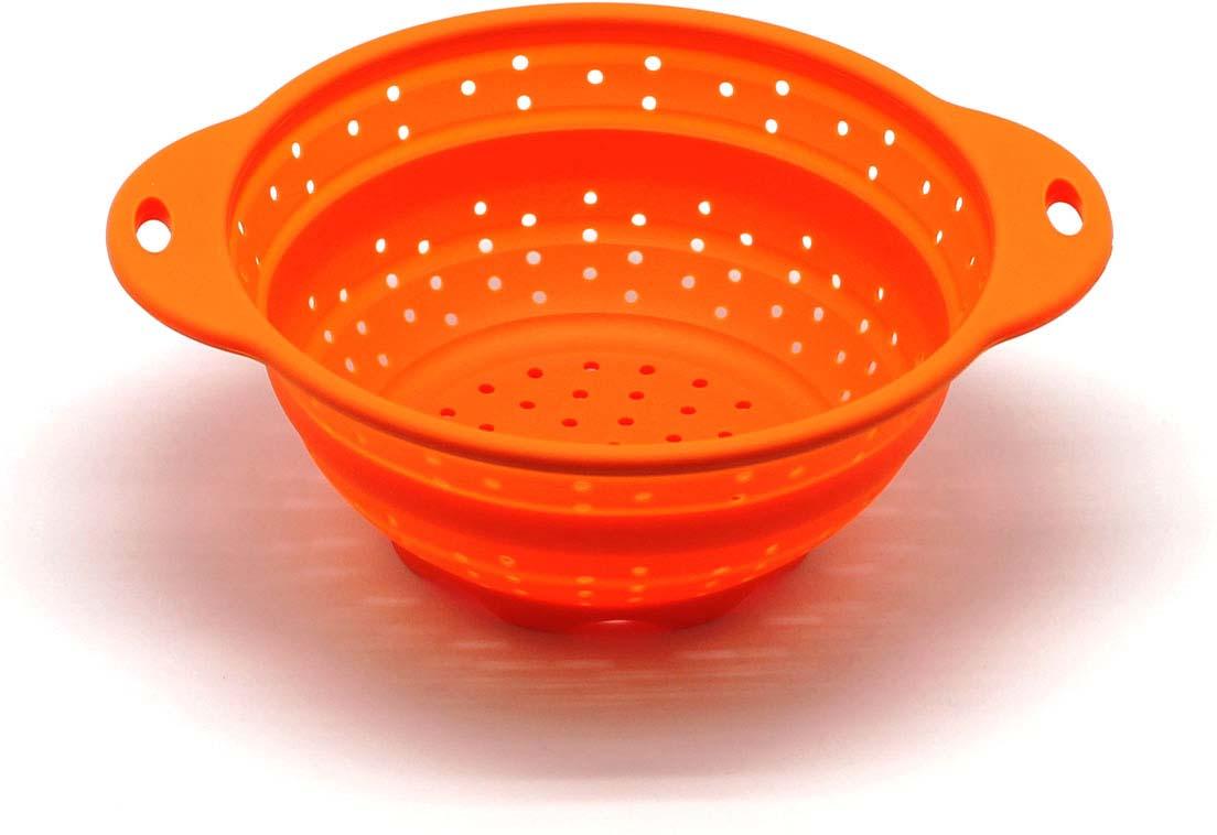 """Дуршлаг складной """"Atlantis"""", цвет: оранжевый, диаметр 19 см. SC-SB-014A-O"""