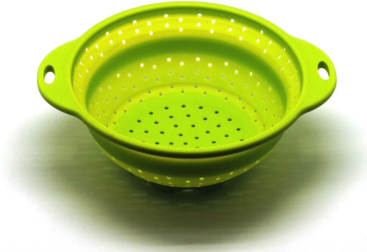 """Дуршлаг складной """"Atlantis"""", цвет: зеленый, диаметр 21,5 см. SC-SB-015A-G"""