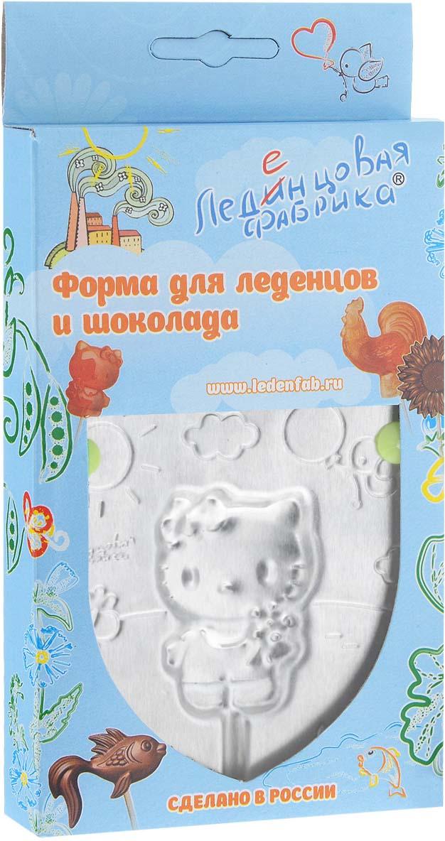 Форма для леденцов Кошечка Китти, 9,5 см х 9,5 см трафарет для кофе леденцовая фабрика кошечка и бабочки 10 10 см