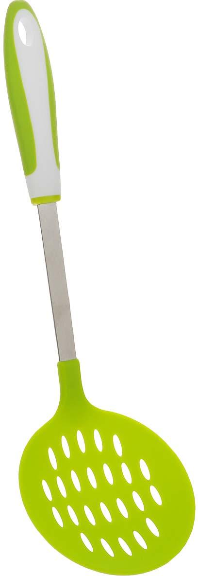 Шумовка Green, цвет: салатовый, длина 36 см шумовка gipfel comet 2062 36 см черная