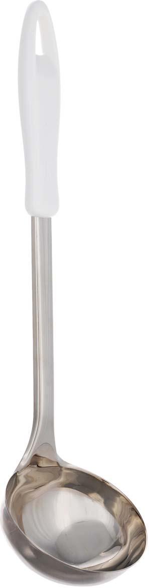 Половник Tescoma Presto, длина 34 см420304Половник Tescoma Presto изготовлен из нержавеющей стали и предназначен для наливания супов и других жидких блюд в тарелки. Удобная пластиковая ручка не позволит выскользнуть половнику из вашей руки. Практичный и удобный половник Tescoma Presto займет достойное место среди аксессуаров на вашей кухне.Можно мыть в посудомоечной машине.